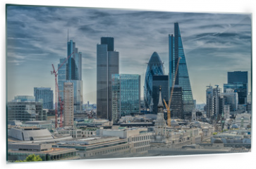 Panel szklany do kuchni - London City. Modern skyline of business district