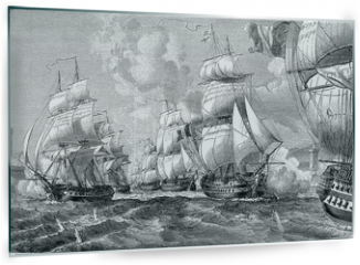Panel szklany do kuchni - Admiral stallion with his squadron strength of the entrance floo