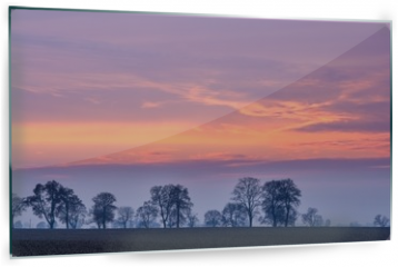 Panel szklany do kuchni - After sunset colorful sky over fields