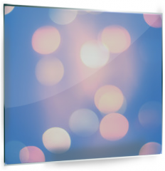 Panel szklany do kuchni - Blurred Blue Pastel Color Lights. Bright festive background
