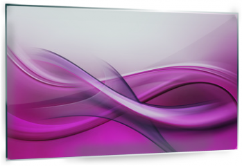 Panel szklany do kuchni - Abstract Fractal Purple Pink Waves Background